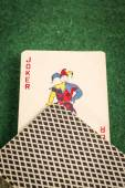 Deck of Cards with Joker — Stock Photo