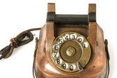 Старый металлический Телефон — Стоковое фото