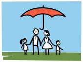 Life Insurance Concept — Stock Vector