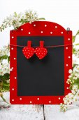 Red and black memo board  — Стоковое фото