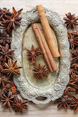 Anise seeds and cinnamon sticks — Foto Stock