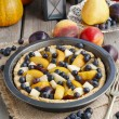 Tart with peach, pumpkin, plum, pear and blueberry — Stock Photo #60243909