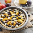 Tart with peach, pumpkin, plum, pear and blueberry — Stock Photo #60243915
