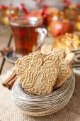 Speculaas is a type of spiced shortcrust biscuit — Stock Photo