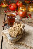 Spekulatius es un tipo de galleta de pasta brisa con especias — Foto de Stock