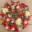 Wreath made of artificial flowers — Stock Photo #60395813