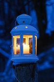 Lanterna sulla neve — Foto Stock