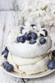 Pavlova cake in winter style — Foto de Stock