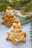 Gingerbread christmas trees — Stock Photo
