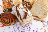 Breads and rolls — Stock Photo