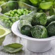 Bowl of frozen spinach — Stock Photo #61103771