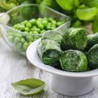 Bowl of frozen spinach — Stock Photo #61103775