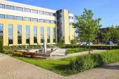 The Jagiellonian University.  Modern campus buildings. — Stock Photo