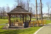 Beautiful city park by the Salt Mine, Wieliczka, Poland. — Stock Photo