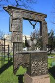Sculpture of John Paul II city park, Wieliczka, Poland. — Stock Photo