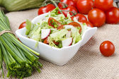 Spring salad - healthy food — Stock Photo