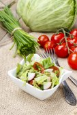 Spring salad - healthy food — Stock Photo