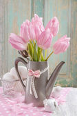 Buquet of pink tulips — Stock Photo