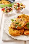 Frittelle di patate con verdure — Foto Stock