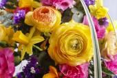 Matrimonio bouquet con ranuncolo, Narciso e garofano — Foto Stock