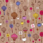Classic Chinese new year background. Chinese lanterns. — Vettoriale Stock