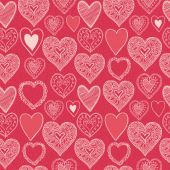 Hearts seamless pattern. Valentine's Day. — Stock Vector