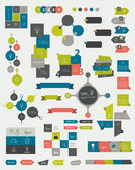 Raccolte di template design piatto infografica. — Vettoriale Stock