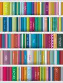 Books background. Realistic vector illustration. — Stockvektor
