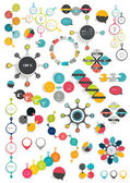 Set of modern flat circle, round info graphic schemes. Template for print or web page. — Stock Vector