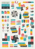 Collections of info graphics flat design diagrams. — Stock vektor