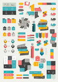 Collections of info graphics flat design diagrams. — ストックベクタ