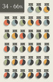 Collection of infographic percentage circle charts. — Stock Vector