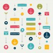 Set modern flat download buttons. Colorful shapes, arrows, pictogram. Vector illustration for infographic. — Stock Vector #54663371