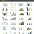 Set of 28 flat charts, diagrams for infographic. Vector. — Stock Vector #54665119