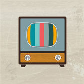 Retro television. Vector illustration. — Stock Vector