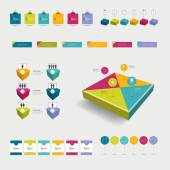 Infographic set elements. — Stock Vector