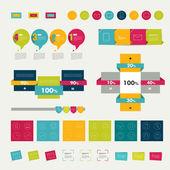 Infographic öğeleri kümesi. Düzen şablonu. vektör. — Stok Vektör