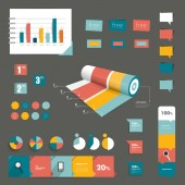 Set of infographic elements. Layout template. Vector. — Stock Vector