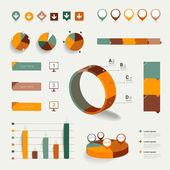 インフォ グラフィック要素のセットです。レイアウト テンプレートです。ベクトル. — ストックベクタ