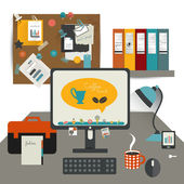Work office table. — Stock Vector