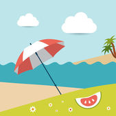 Summer concept. Vector background. — Stock Vector