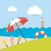 夏天的概念。矢量背景. — 图库矢量图片