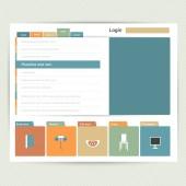 Flat web page, blog, portfolio. Vector background. — Stock Vector