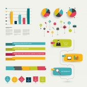 Flat infographic template. — Stock Vector