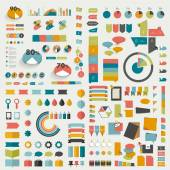 Big collections of info graphics flat design diagrams. — Stock Vector