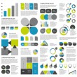 Big set of flat infographic elements. Layout template. Vector. — Stock Vector #57403051