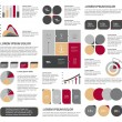 Big set of flat infographic elements. Layout template. Vector. — Stock Vector #57467797