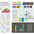 Big set of flat infographic elements. Layout template. Vector. — Stock Vector #57468041