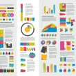 Big set of flat infographic elements. Layout template. Vector. — Stock Vector #57468071