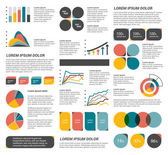 Big set of flat infographic elements. Layout template. Vector. — Stock Vector